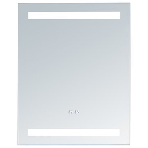 Electric LED Mirror With T5 Tube Digital Clock, 26 X 32