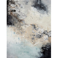 "Contemporary Hand Painted Canvas Art, Large-""Blanche 5"""