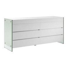 IL Vetro High Gloss White Lacquer Dresser