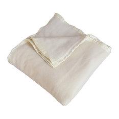 Cannes 100% Merino Wool Blanket, 450Gsm, Natural, Queen