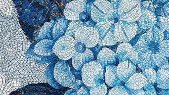 Artistic Flower design of Glass Mosaic