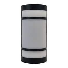 Black And Frosted Acrylic Exterior Wall Light