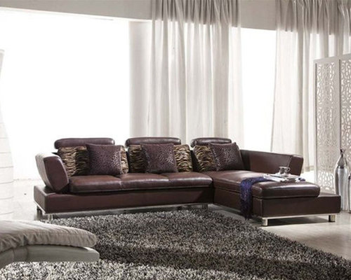Unique Genuine Leather Sectional with Pillows - Sectional Sofas : genuine leather sectional - Sectionals, Sofas & Couches