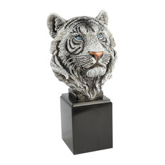 Monroe Tiger Head Objet Jet Crystal Finish
