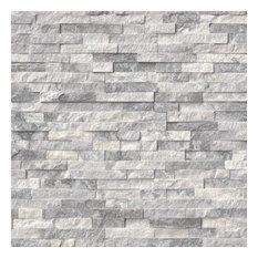 """Marble Ledger Panel Tile Alaska Gray, 6""""x24"""", Set of 50"""