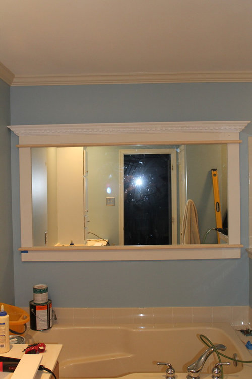 Need Color Advice For Large Custom Framed Wall Mirror