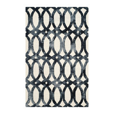 Safavieh Dip Dye Collection DDY675 Rug, Ivory/Graphite, 5'x8'