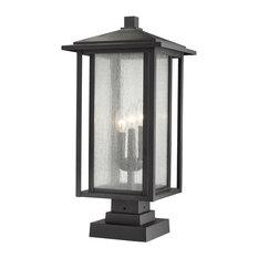 """Z-Lite 554PHXLS-SQPM Aspen 3 Light 24-3/8"""" Tall Outdoor Pier Mount Post Light"""