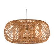 Bamboo Crisscross Pendant Lamp, Rustic Brown