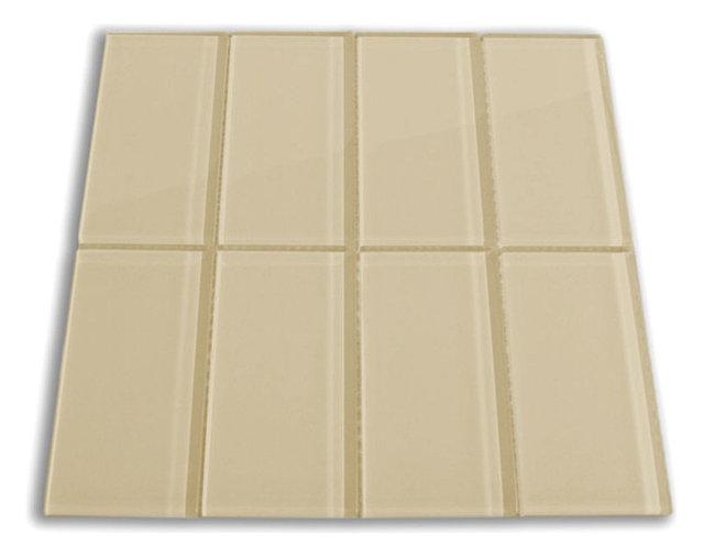 Khaki Glass Subway Tile Modern Tile By Subway Tile