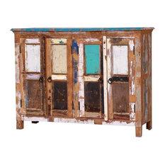 Salinas Rustic Reclaimed Wood Furniture Sideboard Buffet Cabinet
