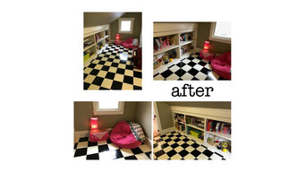 Playroom before and afters