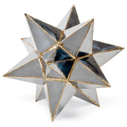 Spectacular Industrial Sculptures by Kathy Kuo Home Frattini Industrial Loft Metal Moroccan Star