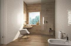 anche io non sono unentusiasta del legno sulle pareti per per darti unidea guarda questi bagni con rivestimenti fap dosa bene la parte in legno con gli