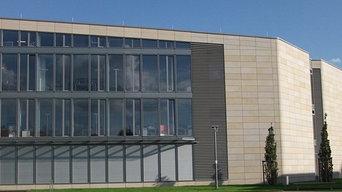 Flexibler Sandstein als Vorhang-Fassade