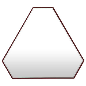 Reflection Triangle Mirror, Burgundy Red