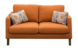 Diamond Sofa Keppel Solid Fabric Loveseat With Accent Pillow