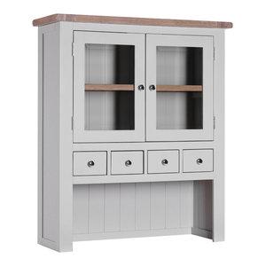 Country 2-Door Hutch, Light Grey