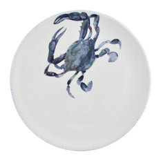 Blue Crab Serving Plate and Charger, Set of 2