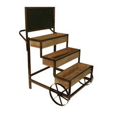 Weathered Pine Cart With Chalkboard