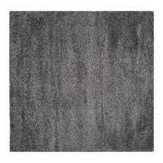 safavieh safavieh california shag dark gray shag rug square 4 area rugs california shag black 4 ft