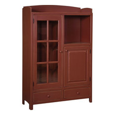 Samuels Pottery Pantry in Red Finish