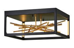 Fredrick Ramond Styx Integrated LED Black Flush Mount