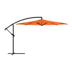 CorLiving PPU-401-U Offset Patio Umbrella, Orange