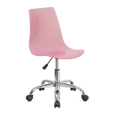 acrylic office chair. flash furniture booker acrylic task chair with chrome base pink office chairs p