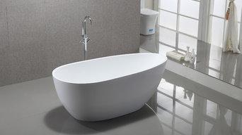 Vanity Art Bath Free Standing Acrylic Bathtub with Faucet VA6515