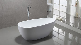 Vanity Art Bath Free Standing Acrylic Bathtub with Faucet VA6515