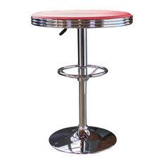 Retro Soda Shop Table, Red
