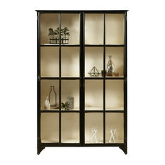 HomeFare   Pulaski Maura Iron Curio Cabinet, Black   China Cabinets And  Hutches