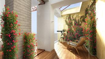 Дизайн-проект интерьеров гостиной с выходом на террасу