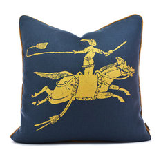 Golden Rider Navy/Gold Pillow Case