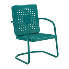 Bates Single Chairs, Set of 2, Turquoise