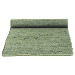 Olive Green Cotton Floor Rug, 170x240 cm