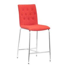 Uppsala Counter Chair Set Of 2 Tangerine