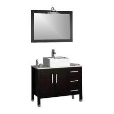 Cambridge   Cambridge 40 Inch Bathroom Vanity Set, A Brushed Nickel Faucet    Bathroom