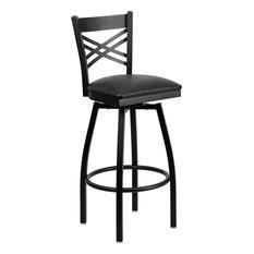 Flash Furniture   Hercules Series U0027u0027xu0027u0027 Back Swivel Metal Bar Stool,