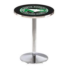 L214 - 42-inch Chrome North Dakota Pub Table By Holland Bar Stool Co.
