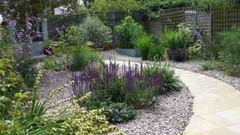 Gravel Garden Putney with plants in abundance