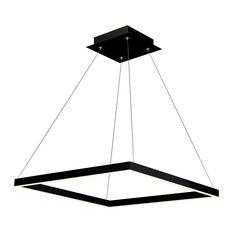 Atria Adjustable LED Chandelier, Black