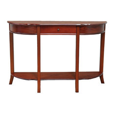 Attractive Anzy   Elegant Console Sofa Table With Drawer, Dark Brown   Console Tables
