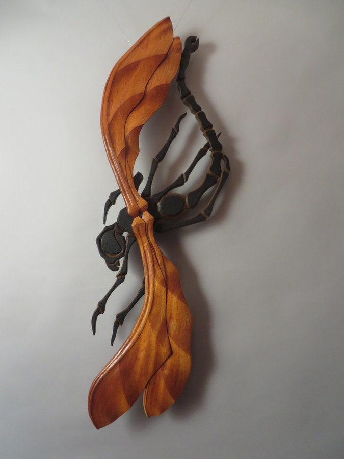 "SuperFly (Wall-mounted Sculpture 44""x14"")"