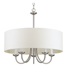 5-Light Chain Hung Fixture, Brushed Nickel