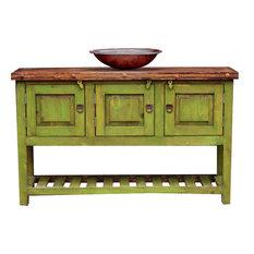"""Green Bathroom Vanity, 60""""x20""""x32"""""""