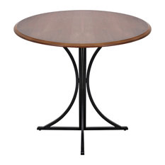 Lumisource Boro Dining Table In Walnut Wood With  Black Frame