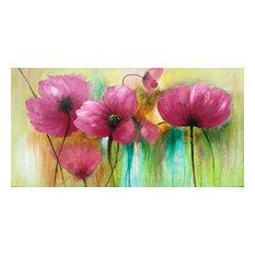 """Violet Flowers"" Hand Painted Oil Canvas Artwork; Modern Art; Fine Art"