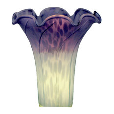 Specialty Lamp Shades: Standard Specialty Company - Glass Tulip Shade, Green/Purple - Lamp Shades,Lighting